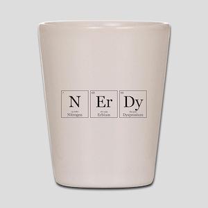NErDy [Chemical Elements] Shot Glass
